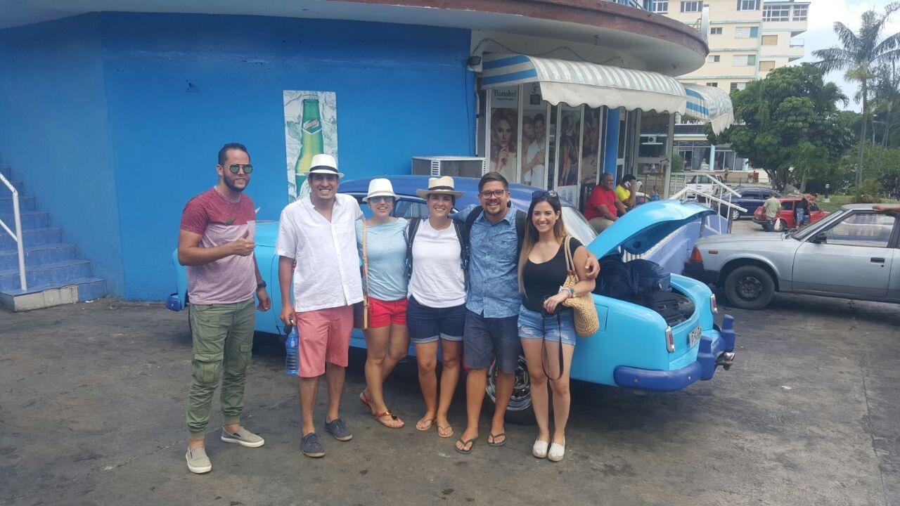 El taxi que nos llevó a Varadero