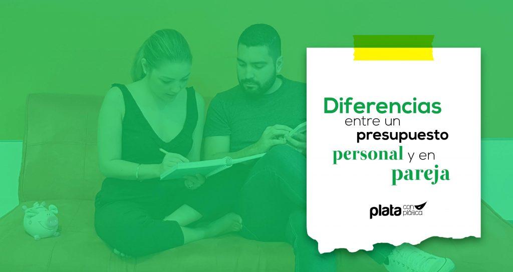 Portada presupuesto personal y pareja | Plata con Plática