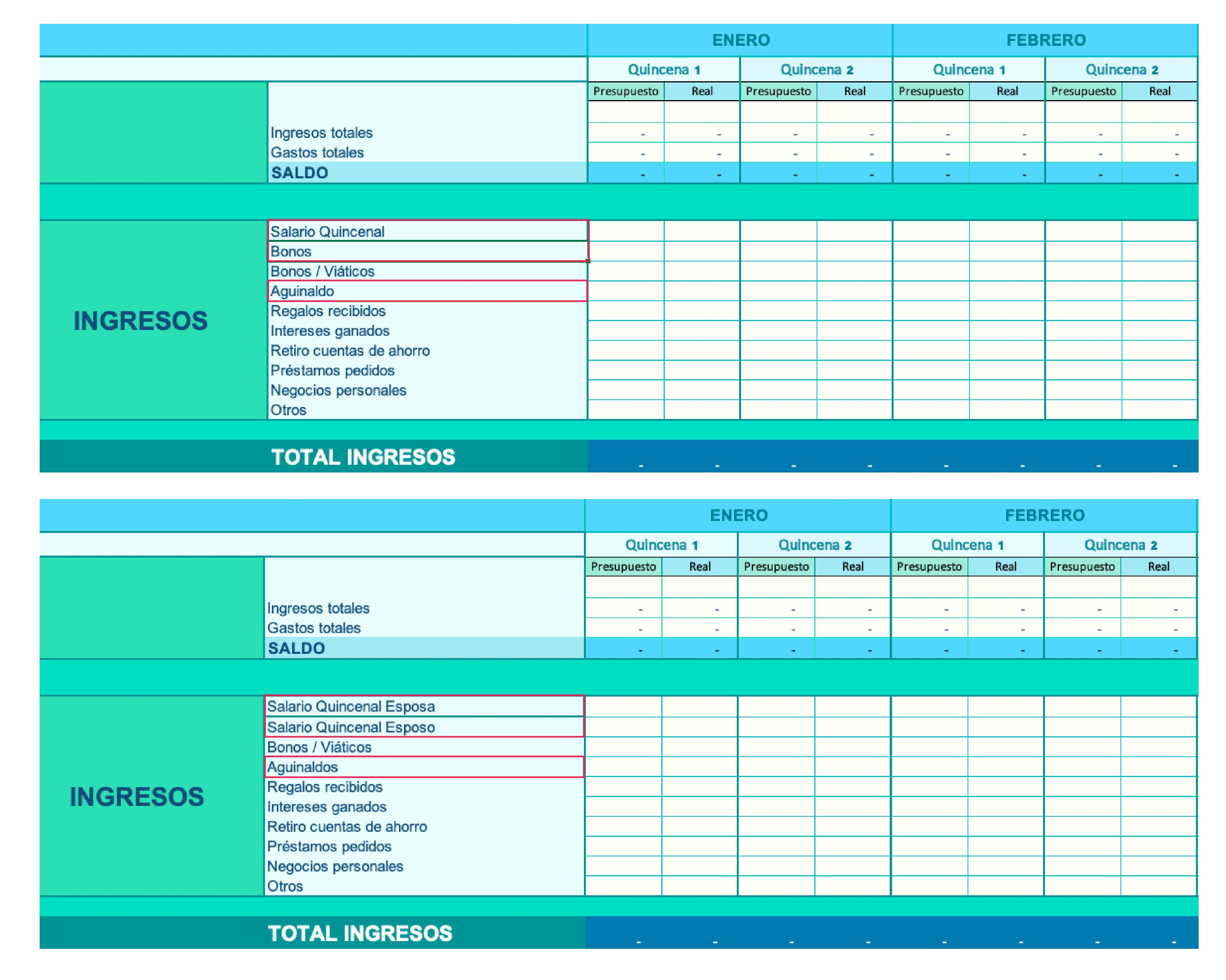 Presupuesto personal y pareja 35 | Plata con Plática
