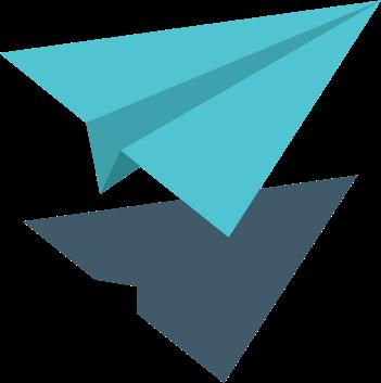 Avion de papel | Plata con Plática
