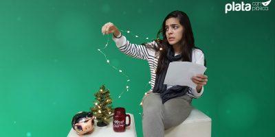 Plata con plática gastos navideños